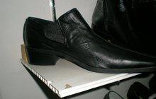 Кожаные туфли с высокой лодыжкой