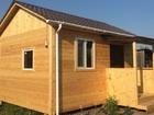 Уникальное фотографию Строительство домов Каркасный деревянный дом 5 м х 4 м с крыльцом 43833939 в Тюмени