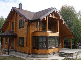 Скачать фотографию  Строительство домов таунхаусов бань коттеджей из сухого профилированного бруса 32902220 в Москве