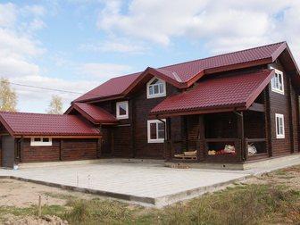 Скачать бесплатно изображение  Строительство домов таунхаусов бань коттеджей из сухого профилированного бруса 32902223 в Москве