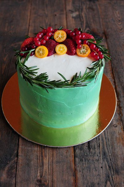 Торты с цветами из фруктов