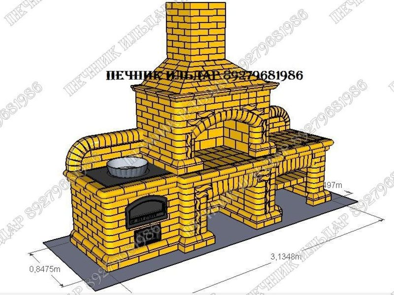 строительство печей-каминов своими руками
