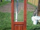 Дверь деревянная со стеклом