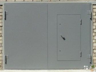 Ворота гаражные 2,45х2,08,  Метал 3 мм в Волгограде
