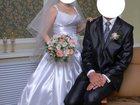 Свежее фото Свадебные платья Атласное белоснежное свадебное платье 32334777 в Воронеже