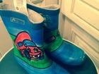 Уникальное foto Детская обувь Резиновые сапоги для мальчика синего цвета-32 разммер 40466526 в Зеленограде