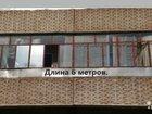 Металическое остекление балкона 6 метров