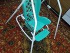 Детский стул для кормления с качелями